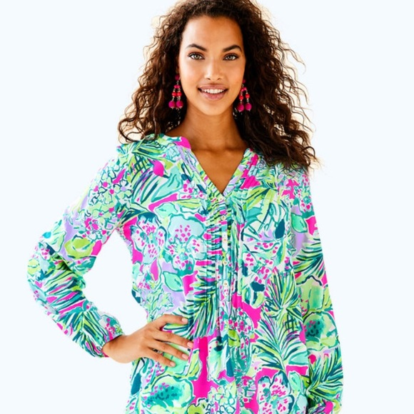 Lilly Pulitzer Tops - NWT Lilly Pulitzer Harbor Island Tunic XS